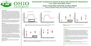 ANTICIPATORY CHANGES IN CENTER OF MASS AND CENTER OF PRESSURE IN FULL BODY REACHING TASKS