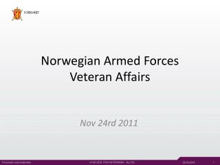 Norwegian Armed Forces Veteran Affairs