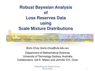 Robust Bayesian Analysis  of  Loss Reserves Data  using  Scale Mixture Distributions