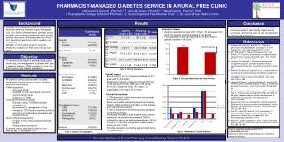 PHARMACIST-MANAGED DIABETES SERVICE IN A RURAL FREE CLINIC
