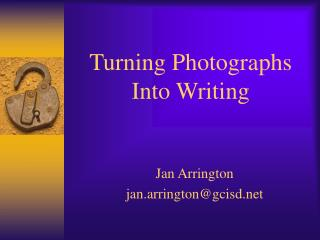 Turning Photographs  Into Writing
