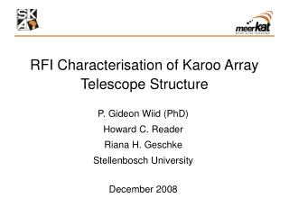 RFI Characterisation of Karoo Array Telescope Structure