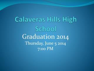 Calaveras Hills High School