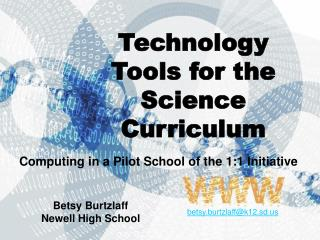 Technology Tools for the Science Curriculum