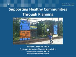 Supporting Healthy Communities Through Planning