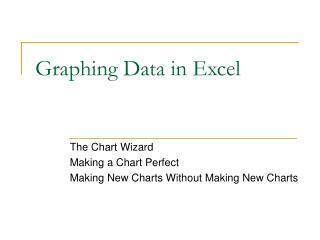 Graphing Data in Excel