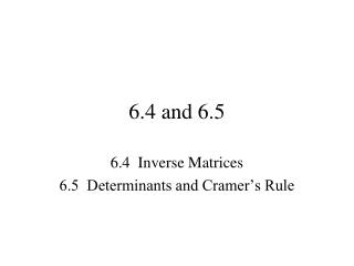 Inverse Matrices 3 x 3