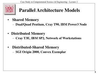 Parallel Architecture Models