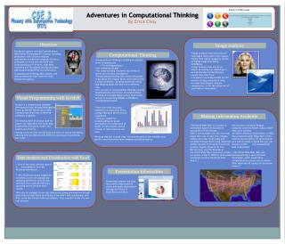 Adventures in Computational Thinking By Erica Choy