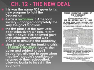 CH.  12  - THE NEW DEAL