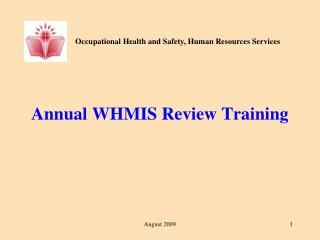 Annual WHMIS Review Training