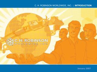 C. H. ROBINSON WORLDWIDE, INC.  |   INTRODUCTION