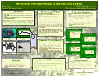 Using Sonar and Digital Imagery To Estimate Crop Biomass