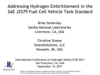 Addressing Hydrogen Embrittlement in the SAE J2579 Fuel Cell Vehicle Tank Standard