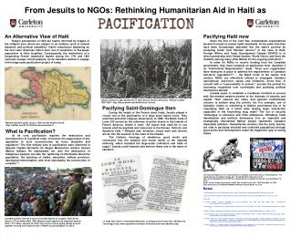 From Jesuits to NGOs: Rethinking Humanitarian Aid in Haiti as