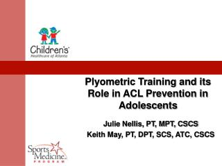 Plyometric Training and its Role in ACL Prevention in Adolescents