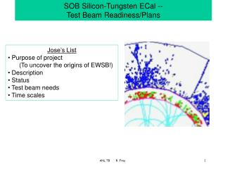 SOB Silicon-Tungsten ECal --  Test Beam Readiness/Plans