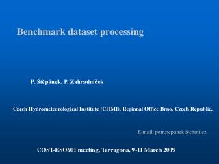 Benchmark dataset processing