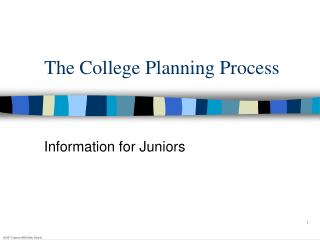 The College Planning Process