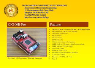 XC2S30-6TQ144C / XC2S50-6TQ144C / XC2S100-6TQ144C Internal Clock or CMOS Crystal Oscillator