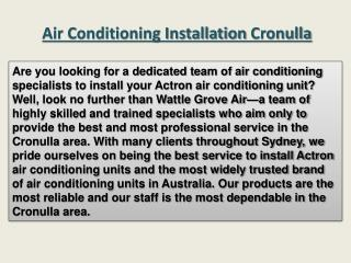 Air conditioning installation Cronulla
