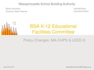 BSA K-12 Educational Facilities Committee