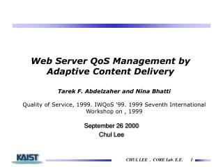 Web Server QoS Management by Adaptive Content Delivery