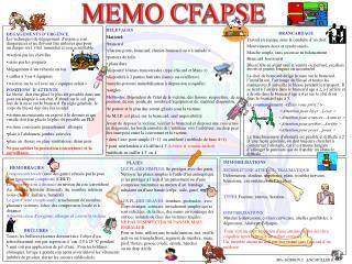 MEMO CFAPSE