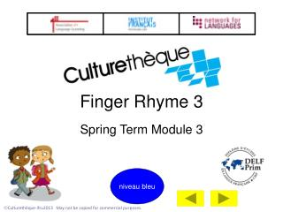 Finger Rhyme 3