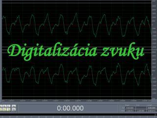 Digitalizácia zvuku