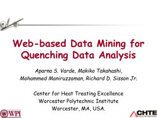 Web-based Data Mining for Quenching Data Analysis