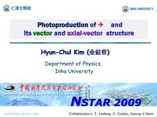 Photoproduction of  Q and its  vector  and  axial-vector   structure