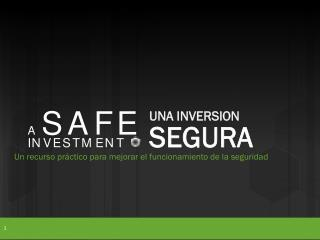 Un recurso práctico para mejorar el funcionamiento de la seguridad