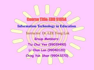 Course Title: EDD 5165A