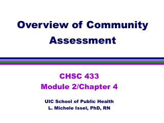 Overview of Community Assessment