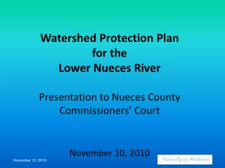 Coastal Bend Regional Water Planning Area (Region N)