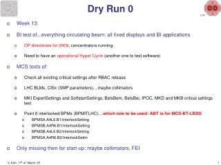 Dry Run 0