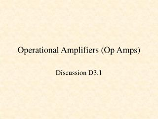 Operational Amplifiers Op Amps