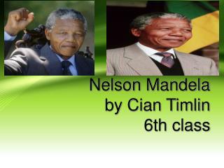 Nelson Mandela by Cian Timlin 6th class
