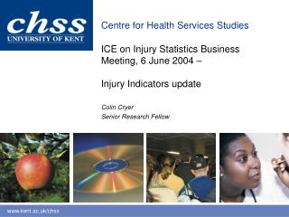 ICE on Injury Statistics Business  Meeting, 6 June 2004  –  Injury Indicators update