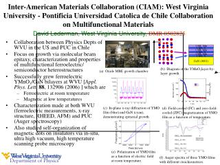 Collaboration between Physics Depts of WVU in the US and PUC in Chile