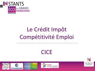 Le Crédit Impôt Compétitivité Emploi CICE