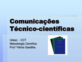 Comunicações  Técnico-científicas