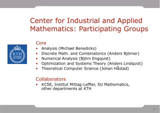 Center for Industrial and Applied Mathematics: Participating Groups