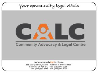 Your community legal clinic