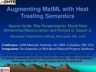 Augmenting MatML with Heat Treating Semantics