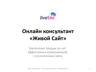 Онлайн консультант  «Живой Сайт»