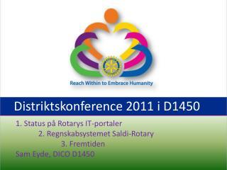Distriktskonference 2011 i D1450