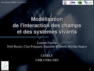 Mod�lisation de l'interaction des champs et des syst�mes vivants