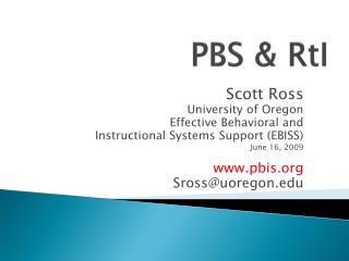 PBS  &  RtI